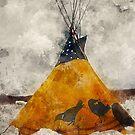 Watercolor Teepee by rhamm