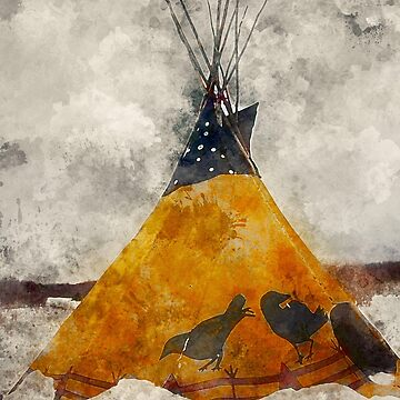 Watercolor Teepee by rhamm