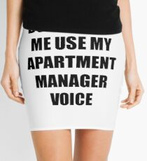 Apartment Manager Gift for Coworkers Funny Present Idea Mini Skirt
