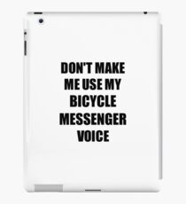 Bicycle Messenger Gift for Coworkers Funny Present Idea iPad Case/Skin