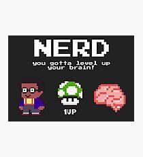 Nerd learning nerd school pixelart Photographic Print