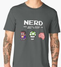 Nerd learning nerd school pixelart Men's Premium T-Shirt