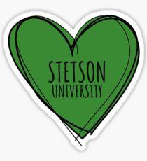 STETSON UNIVERSITY HEART Sticker