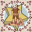 Pizza Sock Monkey by artmuvz