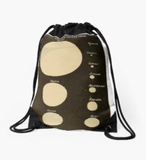 Astronomy for the Use of Schools and Academies (1882) - The Sun as Seen from the Each Planet Drawstring Bag