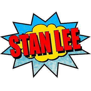 RIP Stan Lee Classic Comic Superhero by Tinkery