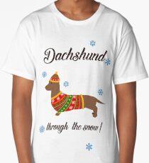 Dachshund through the snow - knitwear Long T-Shirt