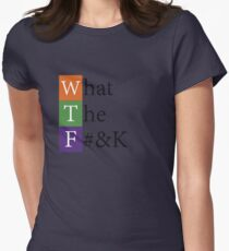 W.T.F. - What The F#&K Social Media Acronym Graphic Women's Fitted T-Shirt