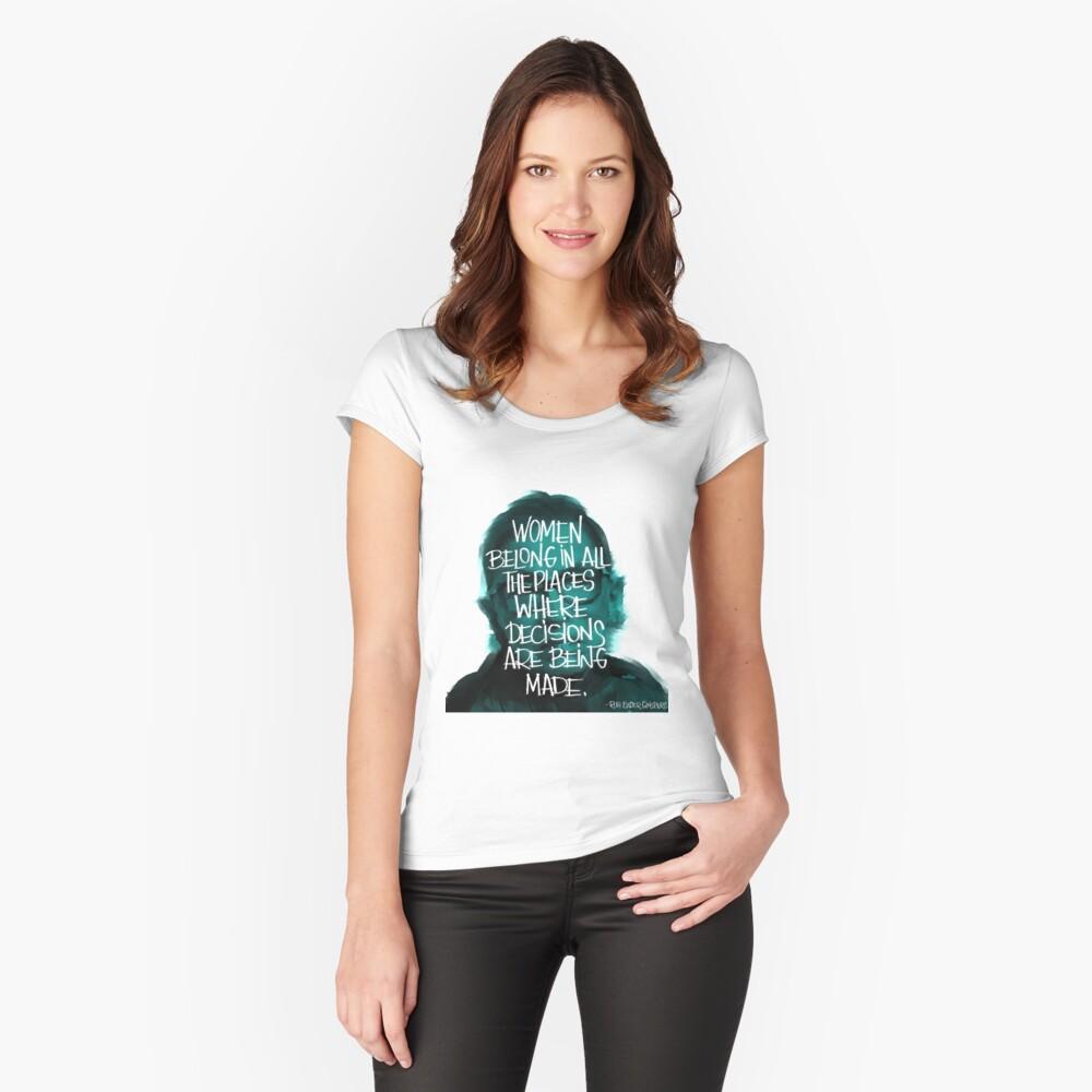 Women belong RBG Fitted Scoop T-Shirt