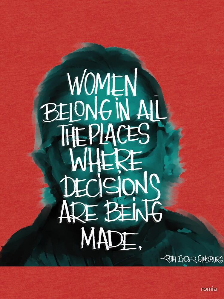 Women belong RBG by romia