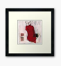 woman seaten Framed Print