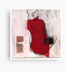 woman seaten Canvas Print