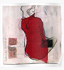woman seaten Poster