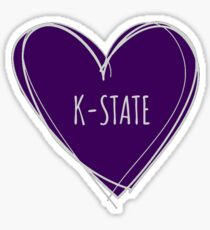 K-STATE HEART Sticker