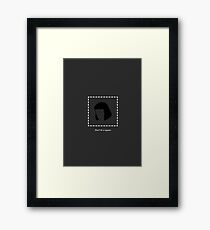 Dont Be a Square Framed Print