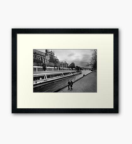 bateaux-mouches Framed Print