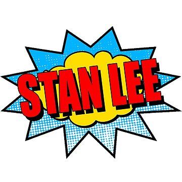 RIP Stan Lee Classic Comic Pow Superhero Design by Tinkery