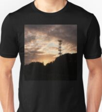Mobile signal tower at sunset Unisex T-Shirt