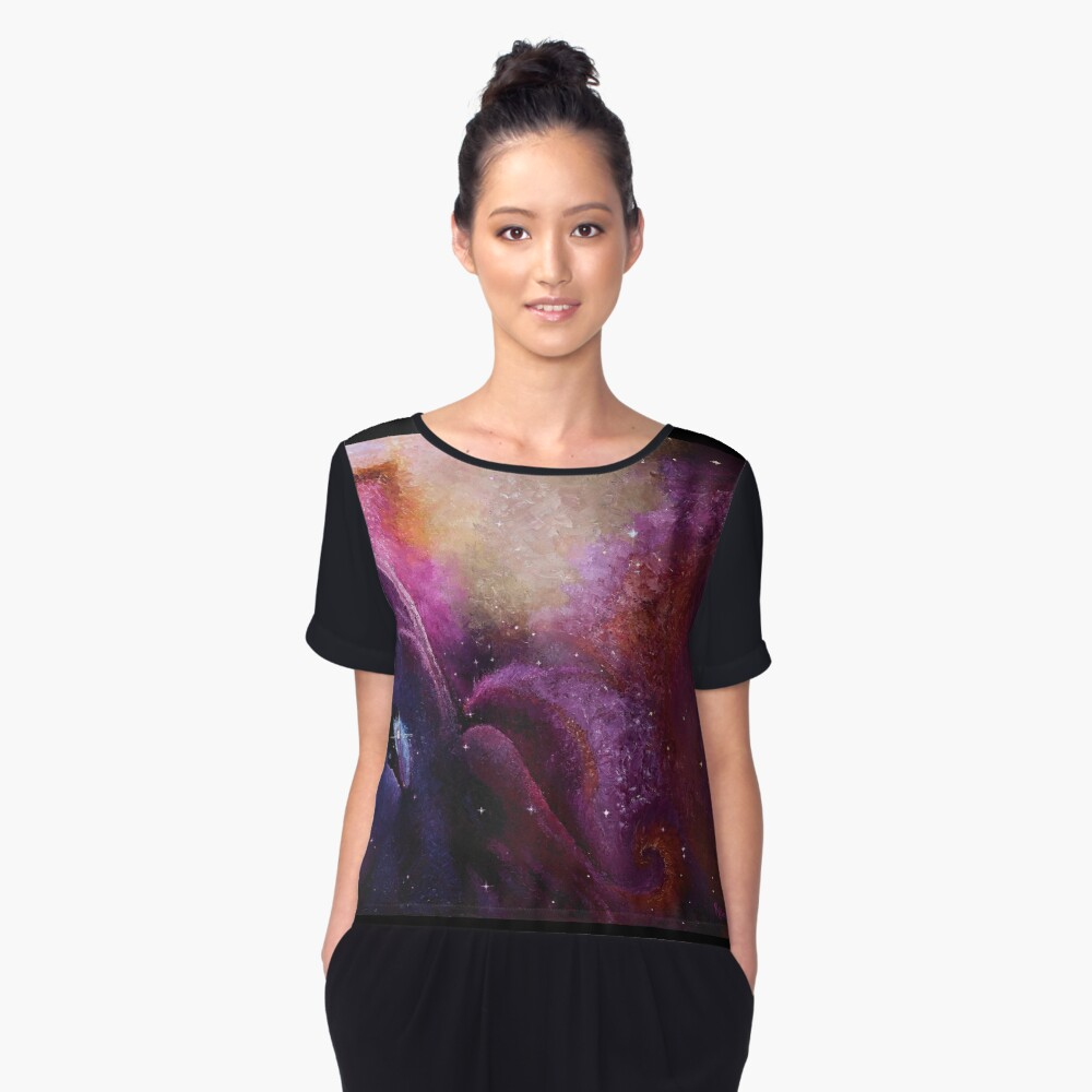 Orion's Nebula Women's Chiffon Top Front