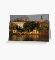 Evening Light on La Vienne Greeting Card