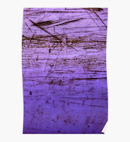 purple plastic canoe Poster