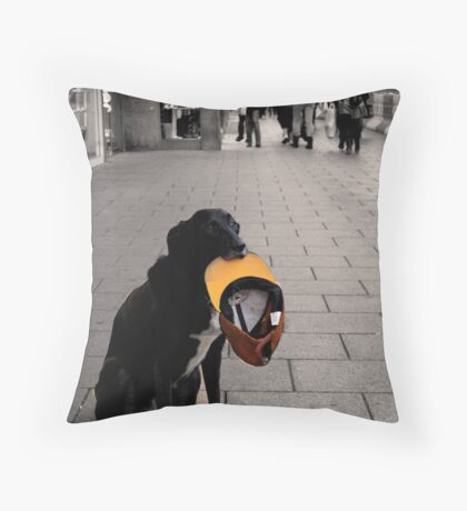 The most sad dog I have ever seen... Throw Pillow