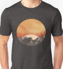 Sunset over mountains Unisex T-Shirt
