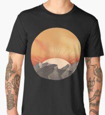 Sunset over mountains Men's Premium T-Shirt