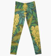 vintage,art nouveau,pattern,rustic,bird,floral Leggings