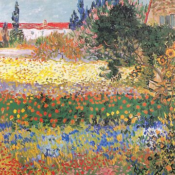 Vincent Van Gogh -Flowering Garden With Path by manbird