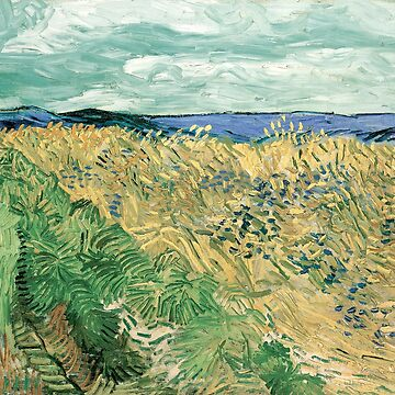 VIncent Van Gogh - Wheat Field With Cornflowers by manbird