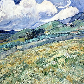 Vincent Van Gogh - Wheat Field Behind Saint-Paul by manbird