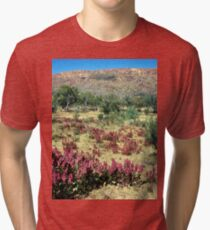 a vast Australia landscape Tri-blend T-Shirt