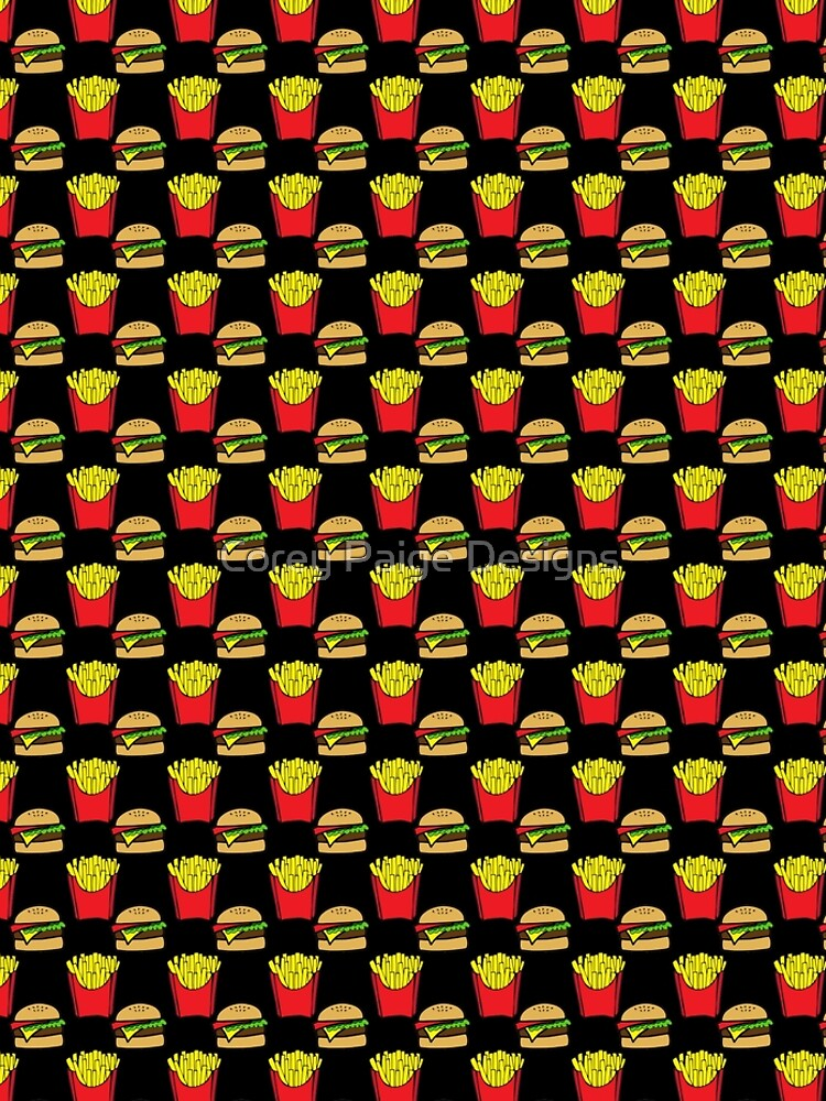 Burger und Pommes von Corey-Paige