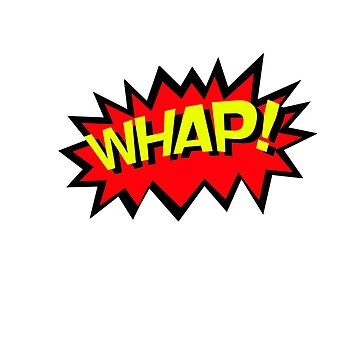 WHAP! Comics Fight Scene Noises Fun T Shirt by rpimentel