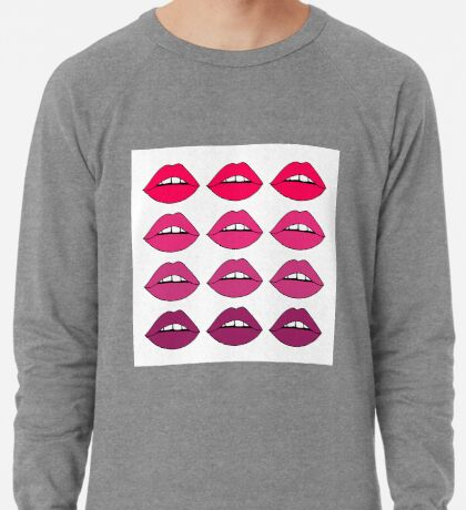 Rosa Ombre-Lippen Leichter Pullover