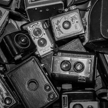 A Mess Of Old Cameras 2 BW  by Gypsykiss
