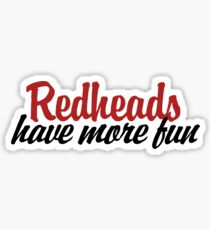 redheads have more fun Sticker