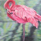 Flamingo by lukekellyart