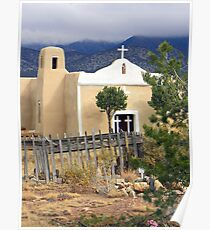 San Francisco Church, Golden, New Mexico Poster