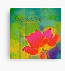 Live n Love - b46b-013a Canvas Print