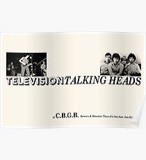 Vintage CBGB Poster - Fernsehen und sprechende Köpfe Poster