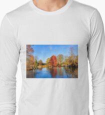 Winter Lake Scene Long Sleeve T-Shirt