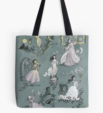 Girls Running From Houses Tote Bag