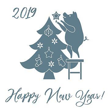 Piglet decorates the Christmas tree. by aquamarine-p