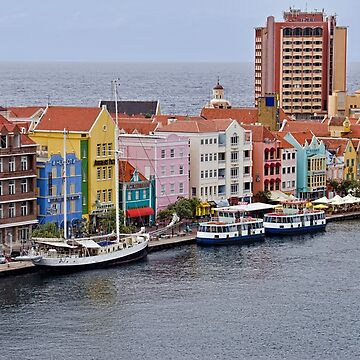 Bordering the Sea in Willemstad, Curacao by gerdagrice