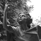 Statue Series - Looking to the sky for answers by Christine Oakley