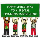 Spinning Instructor Happy Christmas. by KateTaylor