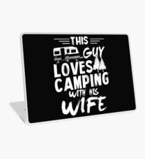 This guy loves camping with his wife Laptop Skin