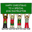 Happy Christmas Gym Instructor. by KateTaylor